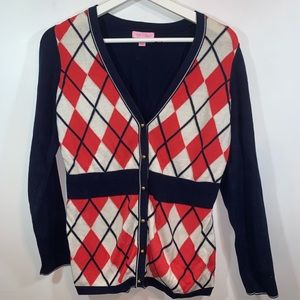 Lilly Pulitzer M Argyle Sweater